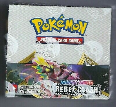 Pokemon Sword and Shield Rebel Clash BOOSTER BOX 36 ct NEW SEALED SHIPS 5/1!