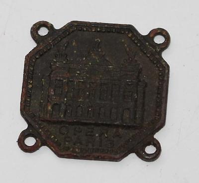 alter Anhänger, Medaille, Opera Oper Paris, ca. 1900, Miniatur 2cm #C990