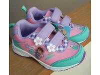 Girl's Doc Mcstuffins trainers - size 8 - brand new, never worn