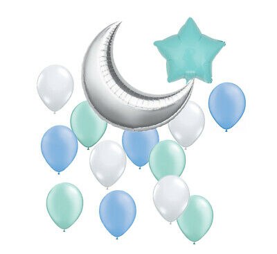 Star and Moon Set Balloons Boy Girl Baby Shower Birthday Party Decorations - Stars And Moon Decorations