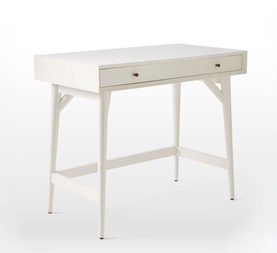 West Elm White Mini Mid Century Desk Dressing Table Rrp 399 In Huntington North Yorkshire Gumtree