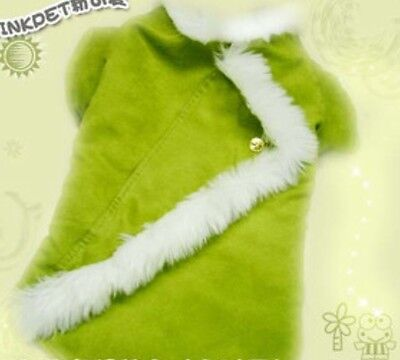 New Dog Pet Costume winter coat With Fur Trim Green  ](Costumes With Fur Coat)
