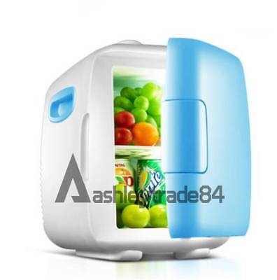 vehicle-mounted Dorm Room Office Kitchen Mini Refrigerator Fridge 8L wathet blue