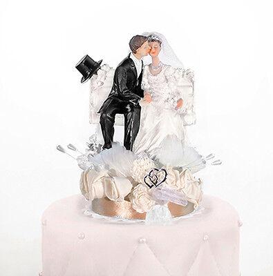 Tortenfigur Hochzeit Brautpaar Herzen Tortenaufsatz Tortendeko Hochzeitstorte