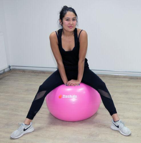 TOP - Gymnastikball 55 cm + Pumpe, Sitzball Fitnessball Yogaball Bürostuhl Y5