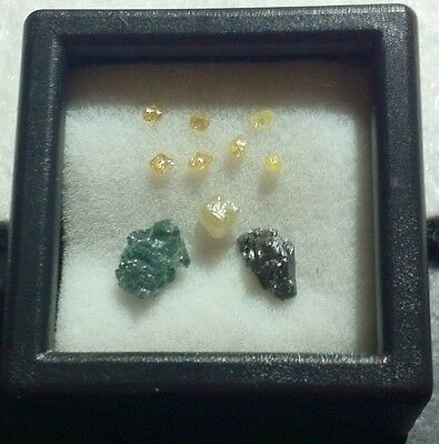 NATURAL RAW MIXED DIAMOND LOT (10 LOOSE).  L1aa for sale  Shipping to India
