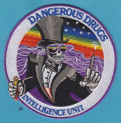 Dea Dangerous Drugs Intelligence Unit Police Shoulder Patch  Round