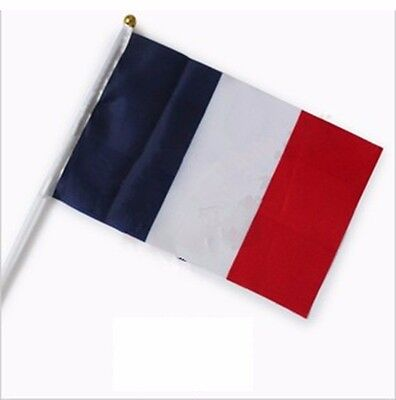 Small Country Flags (French Held Stick Small FLAGS Hand Table Flag Festivals Country Frency)