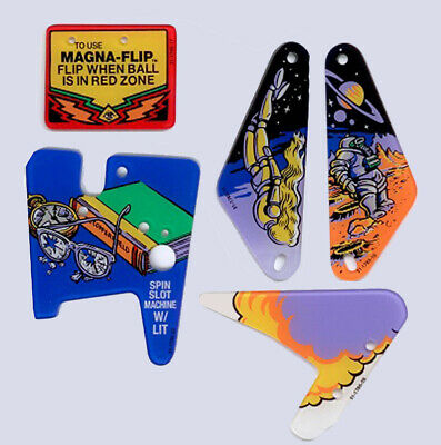 Twilight Zone Pinball Plastic New - 5 piece set.  Free Shipping