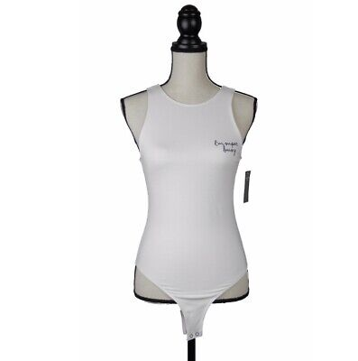 Abercrombie & Fitch White T-Shirt Bodysuit L