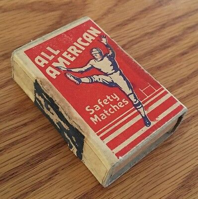 Vintage 1930's All American Safety Matches Football Punter Matchbox
