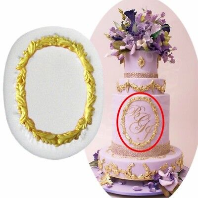 1pc Fondant Cake Chocolate Vintage Mirror Frame Silicone Mold Cooking Tools DL5