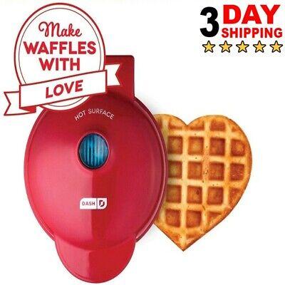 BEST Electric Dash Mini Waffle Maker Belgian Professional Machine Heart With