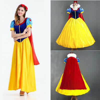 Snow White Cosplay Costume Ladies Fairy Princess Party Gown Fancy Dress