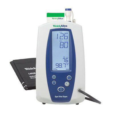Welch Allyn Spot Vital Signs Monitor 420tb-e1 - Nibp Temp Pulse Rate Map