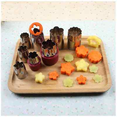 8Pcs/Set Stainless Steel Vegetable Fruit Cookie Cutter Mold DIY Decorating Tools