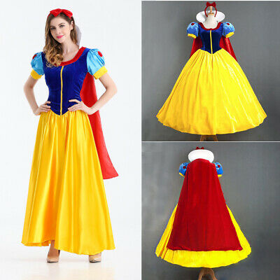 Adult Snow White Cosplay Costume Ladies Princess Fancy Dress Petticoat