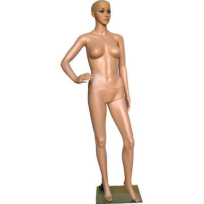 Mn-234 Fleshtone Plastic Female Full Size Mannequin With Removable Head