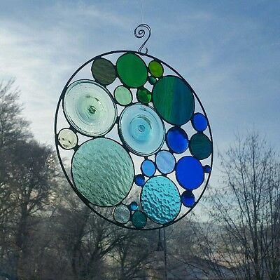 Tiffanybild,Ornament,Glashänger,Fensterbild,Fensterdeko,Glas,Facetten, Geschenk,