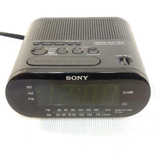Sony Dream Machine ICF-C218 Clock Radio Alarm Auto Time Set