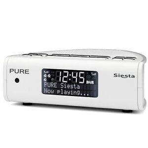 pure siesta series 2 dab dab fm digital fm dual alarm clock radio white ebay. Black Bedroom Furniture Sets. Home Design Ideas