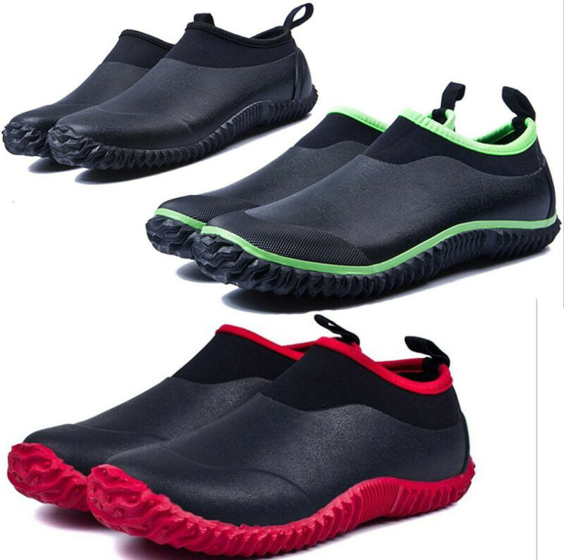 Men Womens Waterproof Ankle Rubber Rain Boots Car wash Muck