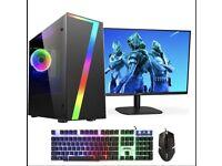Seven Fast AWGaming PC Bundle Intel Core i7 16GB RAM 1TB HDD / Win10 / GTX1050Ti 4GB