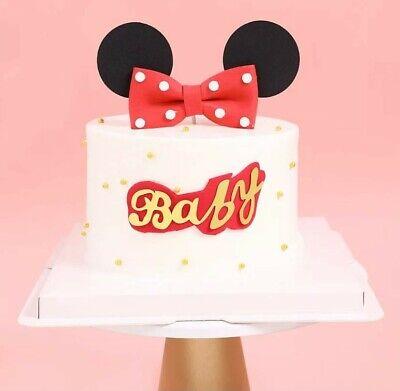 Minnie Mouse Geburtstag Cake Topper Kuchenaufsatz Muffin Tortenstecker Deko
