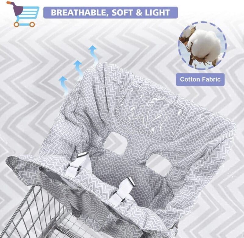 3 in 1 Grocery Cart Shopping Cover for Baby or Toddler