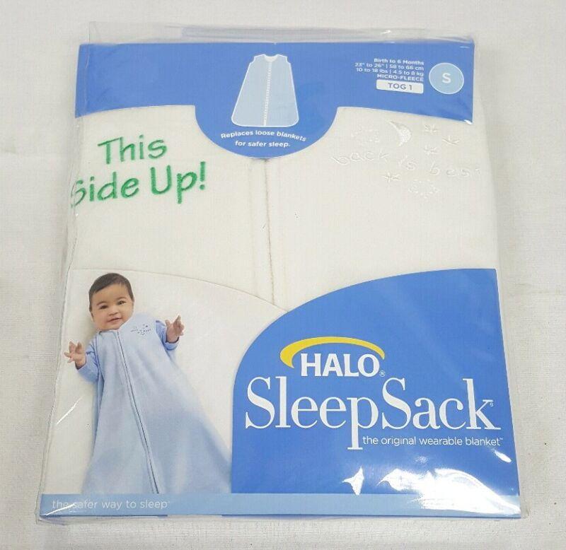 Halo SleepSack Wearable Baby Fleece Blanket Birth to 6 mo Cream Size S NEW