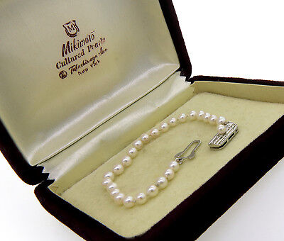 MIKIMOTO Vintage Strand Bracelet, 4.5 - 5 mm Cultured Pearls Strand with Silver