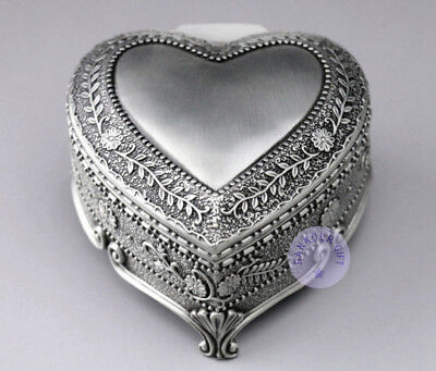 """""""Canon in D Major"""" Alloy Heart Shape Music Box With Sankyo Musical Movement"""
