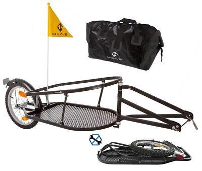 M-Wave Einspur Gepäck Fahrradanhänger SINGLE 40 Fahrrad Anhänger klappbar Neu