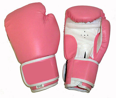 Classic Style Pink Boxing Gloves Kids/Adults Sizes, Sparring/Competition - Pink Boxing Gloves