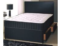 🎆💖🎆LIMITED OFFER🎆💖🎆 SINGLE / DOUBLE / KING SIZE DIVAN BED WITH + MATTRESS & SAME DAY