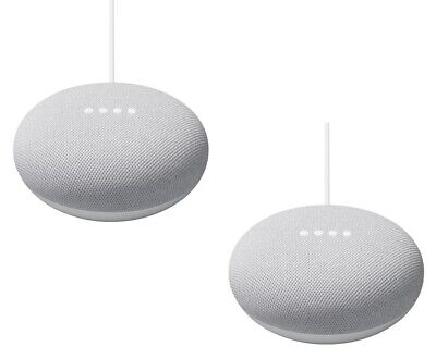 Pack of 2 Nest Mini - 2nd Gen Smart Speaker with Google Assistant