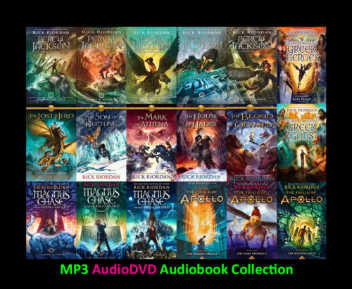 The PERCY JACKSON Series +Spinoffs By Rick Riordan (19 MP3 Audiobook Collection)