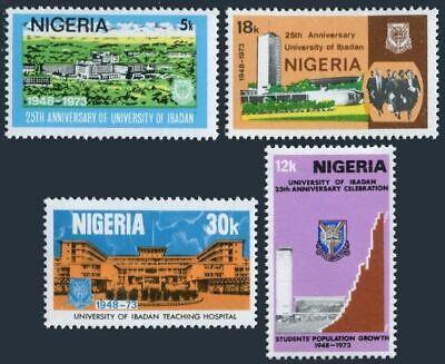 Nigeria 313-316, MNH.Michel 296-299. University of Ibadan, 25th Ann.1973.