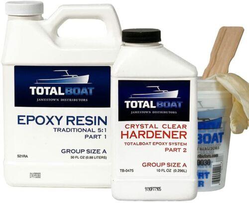 TotalBoat 5:1 Epoxy Resin Kit Quart Fast Hardener Marine Grade Epoxy Resin Kit