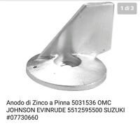 Anodo Di Zinco A Pinna 5031536 Omc Johnson Evinrude 5512595500 Suzuki 07730660 - suzuki - ebay.it