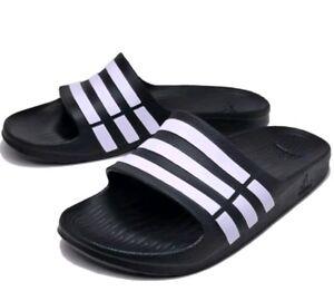 e769e912f9f2 adidas Duramo Men s Slides - Black Size 10 (G15890) for sale online ...