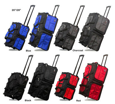 """20""""/28"""" Polyester Rolling Duffel Bag Wheeled Travel Suitcase Carry-on Duffle Bag"""