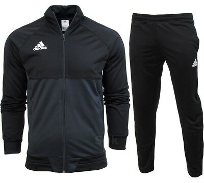 Adidas Tiro 17 Full Mens Zip Tracksuit Jogging Top Bottoms 3 Stripe Size S - XXL