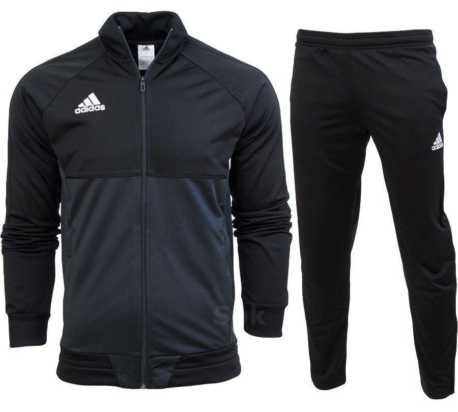 Adidas 3S Herren Trainingsanzug Khaki Grün Weiß alle Größen
