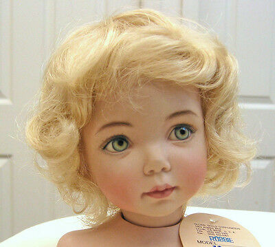 ROBBIE Light Blond DOLL WIG  size 10-11 wavy short hair for all types of dolls