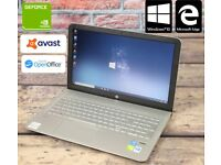HP 15-ae065sa customized gaming laptop i5 240SSD 2gb Geforce graphics + 6 MONTHS WARRANTY