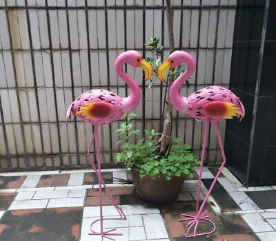 "Garden Statue Iron Flamingo Red-Crowned Crane Patio 32.7"" Outdoor Home Decor , used for sale  China"