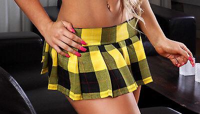 SEXY Reform School Girl Mini Skirt. Classic Schoolgirl Skirt. Yellow. One Size.](Classic School Girl)