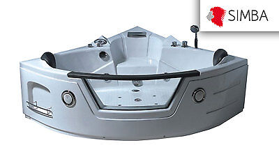 WHIRLPOOL BADEWANNE Mod. MIAMI 135 cm WHIRLPOOL RECHTECK 2 PERSONEN SPA BATH TUB ()