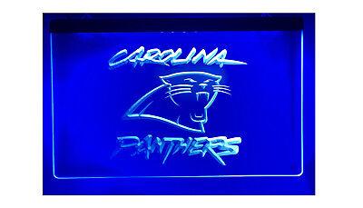 Nfl Pub Sign - Carolina Panthers Neon Blue LED Light Sign Bar Pub Rooms Football  NFL US Seller